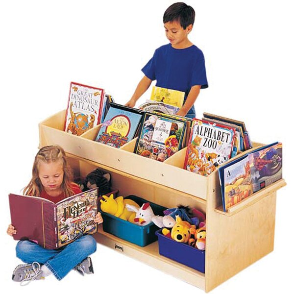 11 Compartment Book Display with Casters by Jonti-Craft