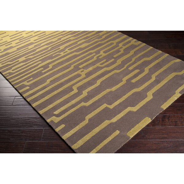 Harlequin Olive/dark Taupe Geometric Area Rug By Harlequin.