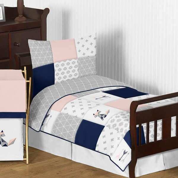 Fox Patch 5 Piece Toddler Bedding Set By Sweet Jojo Designs.