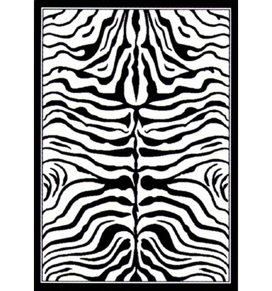 Safari Black and White Cyroth Area Rug by nuLOOM