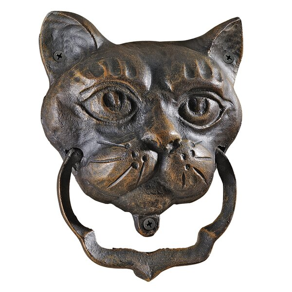 Black Cat Iron Door Knocker by Design Toscano