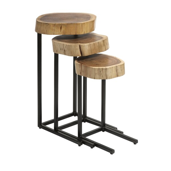 Plyler 3 Piece Nesting Tables by Union Rustic