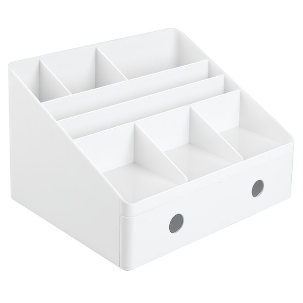 Bouldin Desk Organizer with Drawers by Rebrilliant