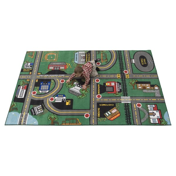 Durable Play Our Town Area Rug by Kids World Carpets