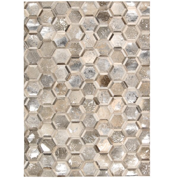 City Chic Hand-Woven Silver Area Rug by Michael Amini