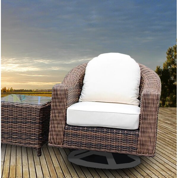 Gallatin Patio Chair with Cushion (Set of 2) by Bayou Breeze