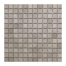Light Tumbled 1 x 1 Travertine Mosaic Tile in Brown/Gray by Seven Seas