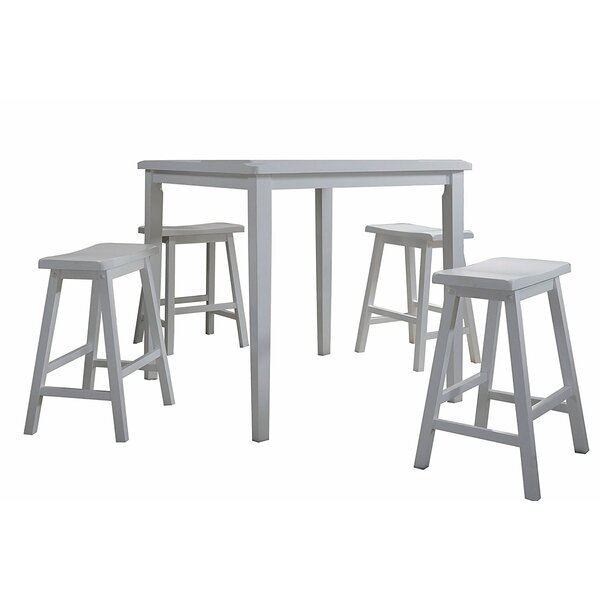 Easton 5 Piece Pub Table Set by August Grove