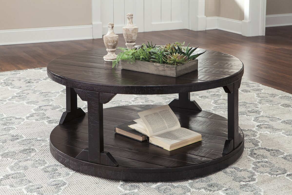 Round coffee tables youll love wayfair skylar coffee table geotapseo Image collections