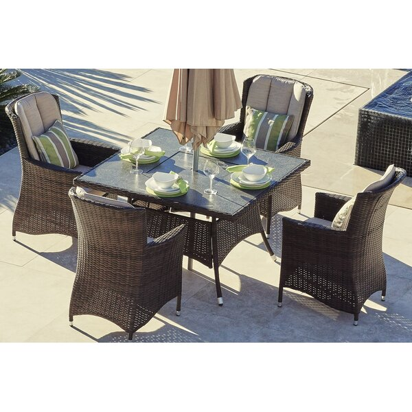 McCabe 5 Piece Dining Set with Firepit and Cushion by Darby Home Co