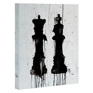 Check Mates Painting Print on Wrapped Canvas by East Urban Home