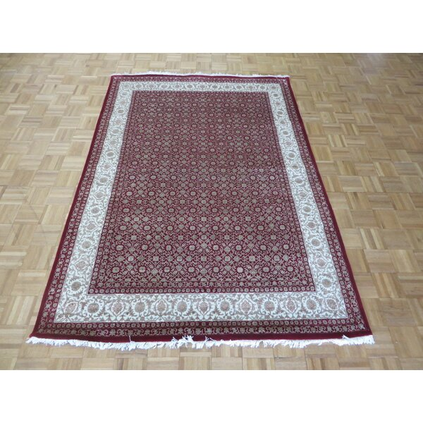 One-of-a-Kind Josephson Herati Hand-Knotted Silk Red Area Rug by Canora Grey