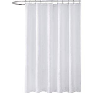 black white chevron shower curtain. Gaetane Cotton Chevron Shower Curtain Modern White Curtains  AllModern