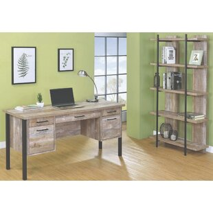 Best Price Benning Writing Desk with Bookcase By Foundry Select