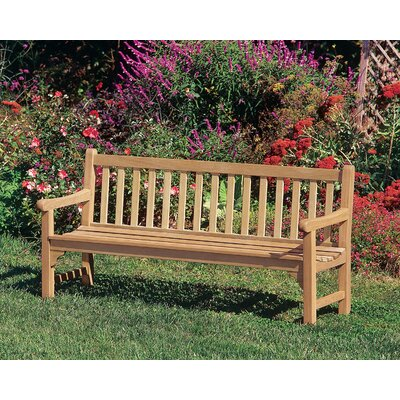 "Dunloy Wooden Garden Bench Canora Grey Size: 35"" H x 72"" W x 26"" D"