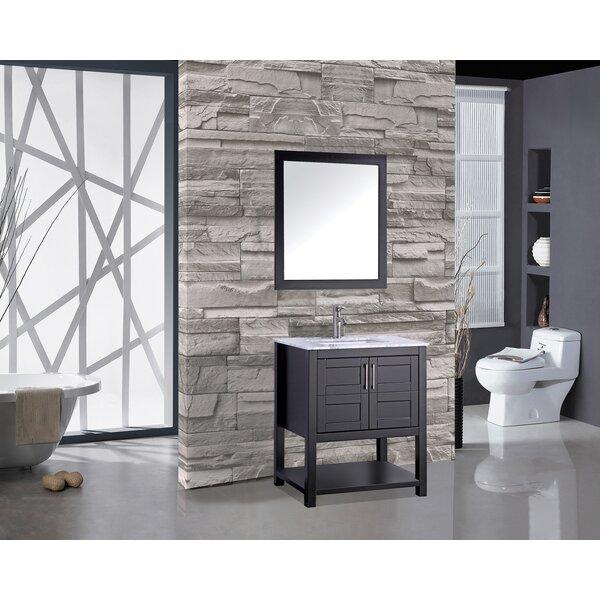 Rines 30 Single Bathroom Vanity Set with Mirror by Mercer41