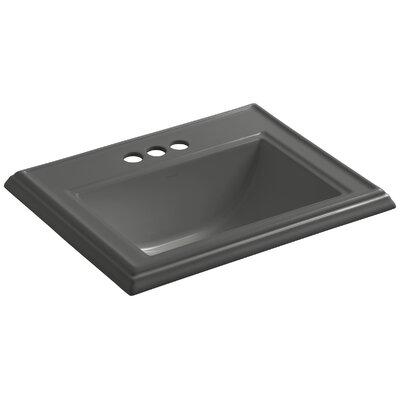 Drop Sink Ceramic Rectangular Overflow Thunder Faucetet 16076 Product Image