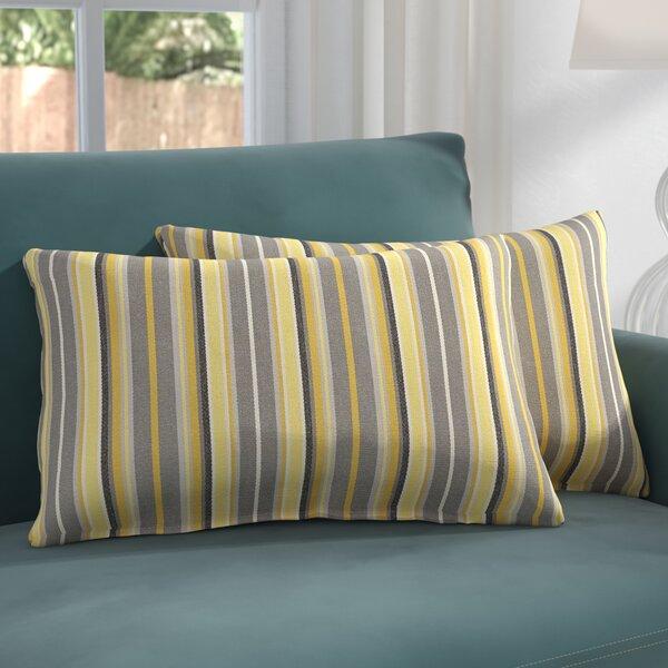 Catherine Indoor/Outdoor Sunbrella Lumbar Pillow (Set of 2) by Darby Home Co