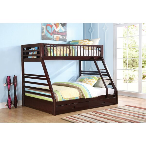 Bacourt Wooden Extra Long Twin over Queen Bunk Bed with Drawers by Harriet Bee