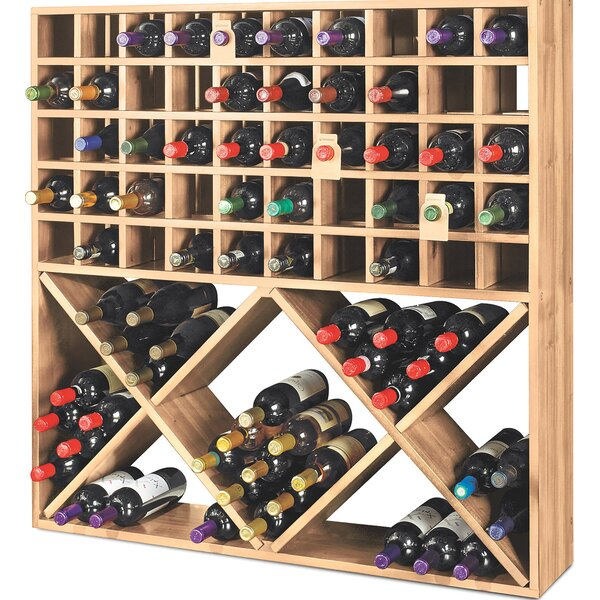 Jumbo Bin Grid 100 Bottle Floor Wine Rack by Wine Enthusiast