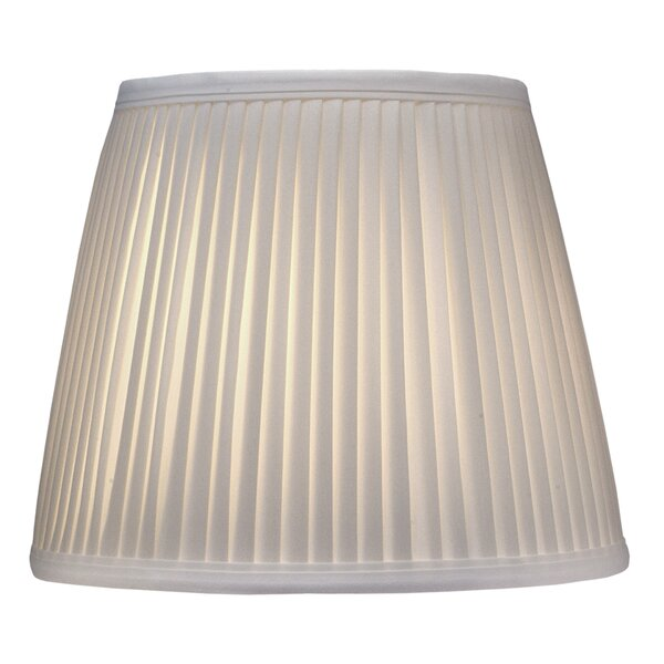 10 H Silk/Shantung Empire Lamp Shade ( Spider ) in Off White Camelot
