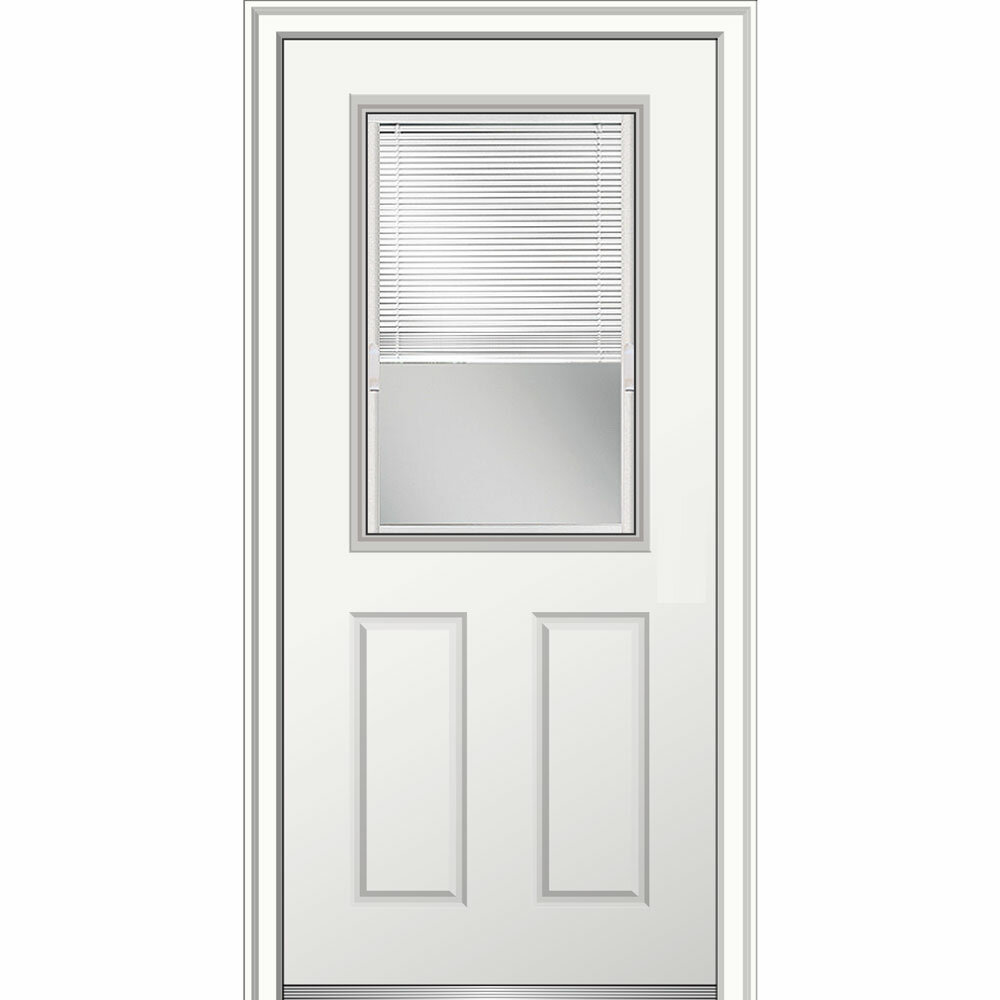 Charmant Verona Home Design 15 Lite Fiberglass Smooth 2 Panel Primed Prehung Front  Entry Door | Wayfair