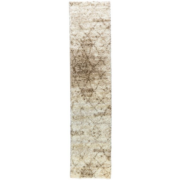 Madison Shag Power Loom Polypropylene Ivory Indoor Area Rug by Well Woven