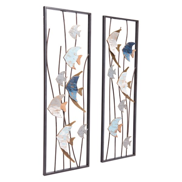 2 Piece Steel Wall Décor Set by Rosecliff Heights