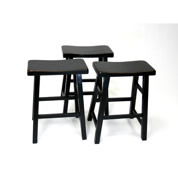 Lincolnwood 24 Bar Stool (Set of 3) by Three Posts