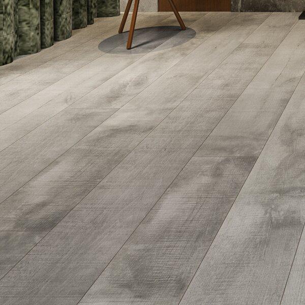 Summa 6.5 x 48 x 12mm Oak Laminate Flooring in Intrepid Nickel by Montserrat