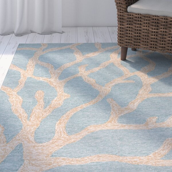 Nilles Blue/Frosty Green Coastal Rug by Beachcrest Home