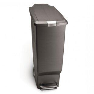 Exceptionnel 10.6 Gallon Slim Step Trash Can, Plastic