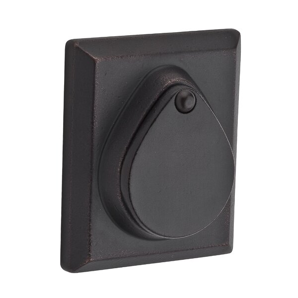 Rustic Square Single Cylinder Deadbolt by Baldwin