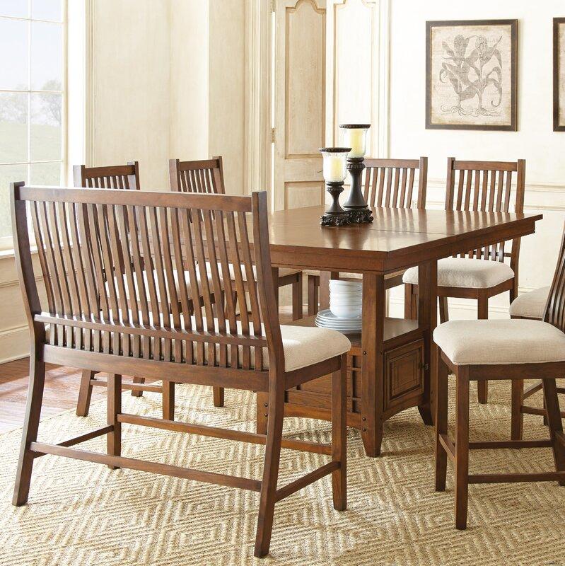 Default nameAlcott Hill Quaker 8 Piece Dining Set   Reviews   Wayfair. Dining Sets For 8. Home Design Ideas