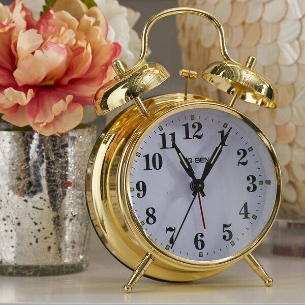 Twin Bell Alarm Clock by Charlton Home