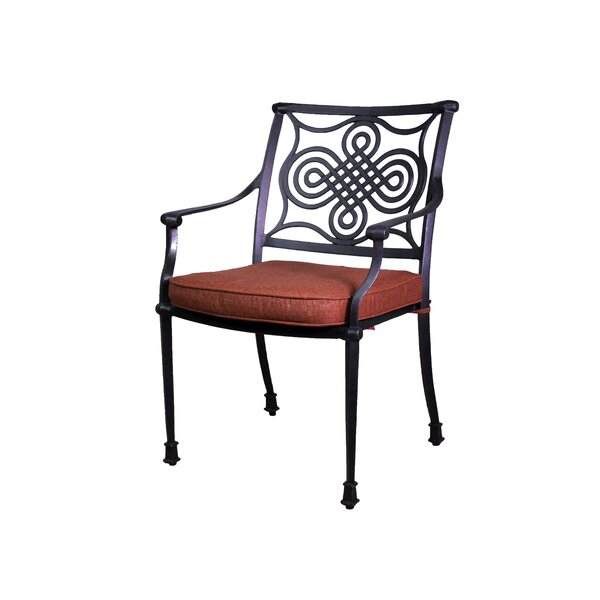 Bermuda Stacking Patio Dining Chair with Cushion (Set of 2) by California Outdoor Designs