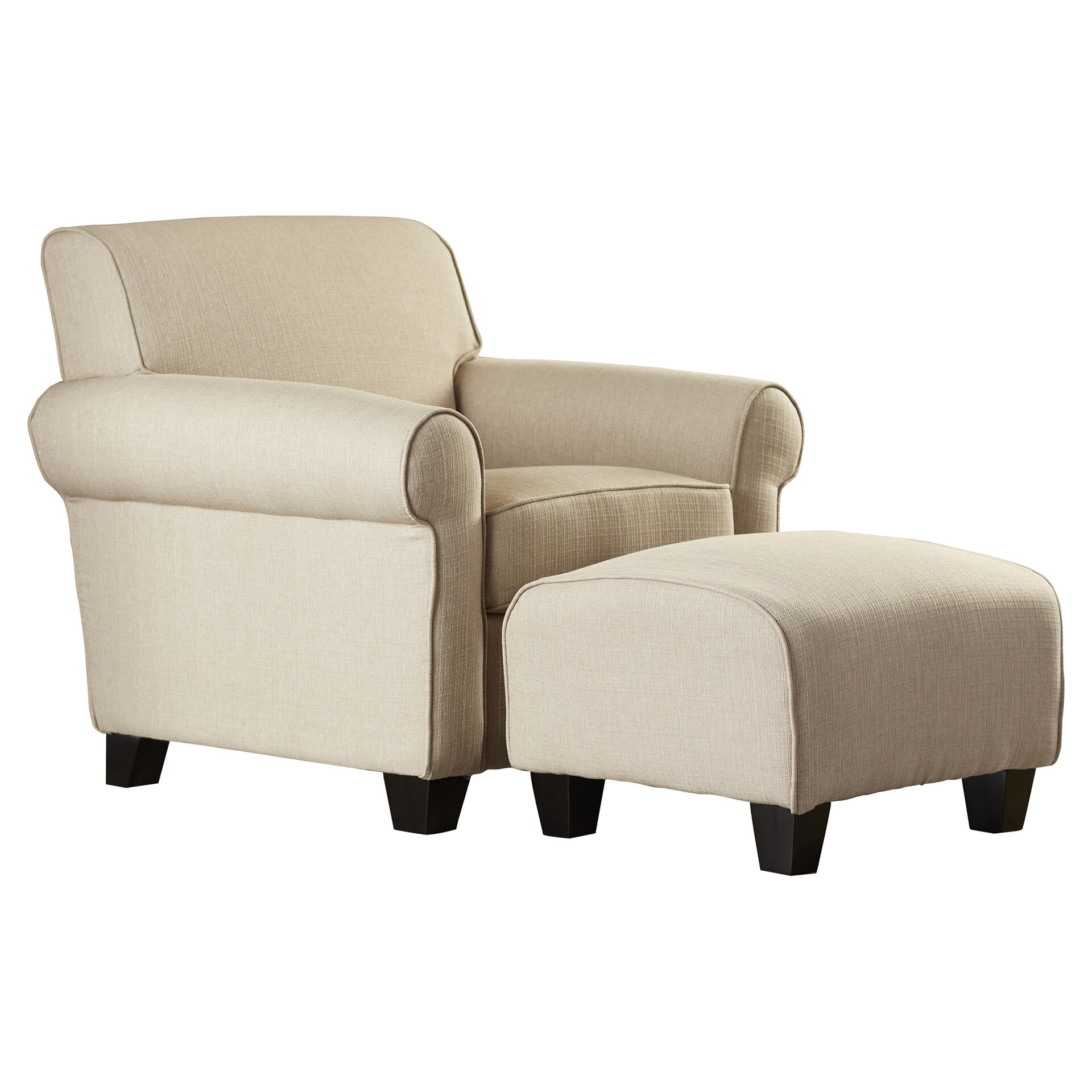 # Cantor Armchair and Ottoman Set By Bernhardt.
