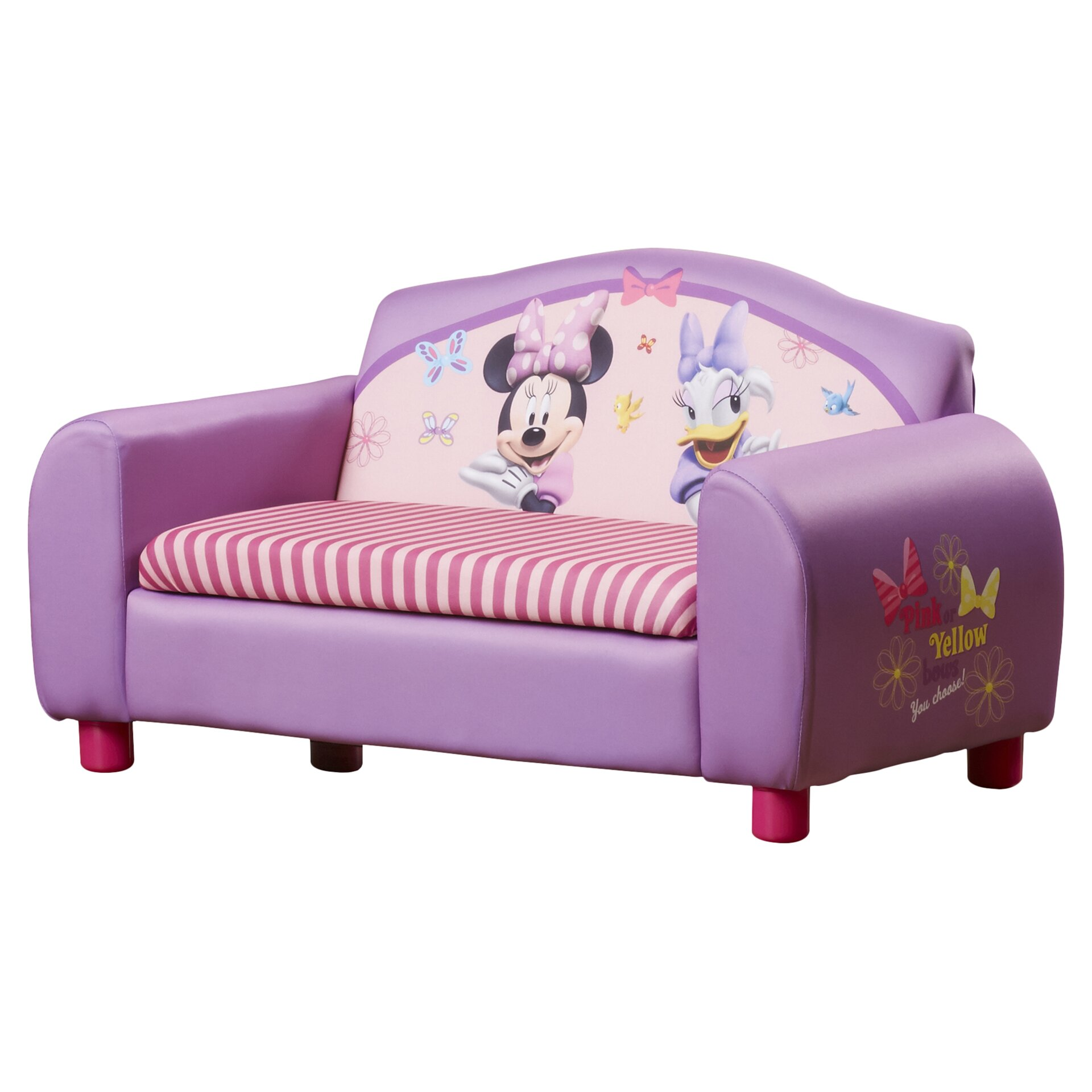 Delta Children Disney Minnie Mouse Kids Sofa with Storage