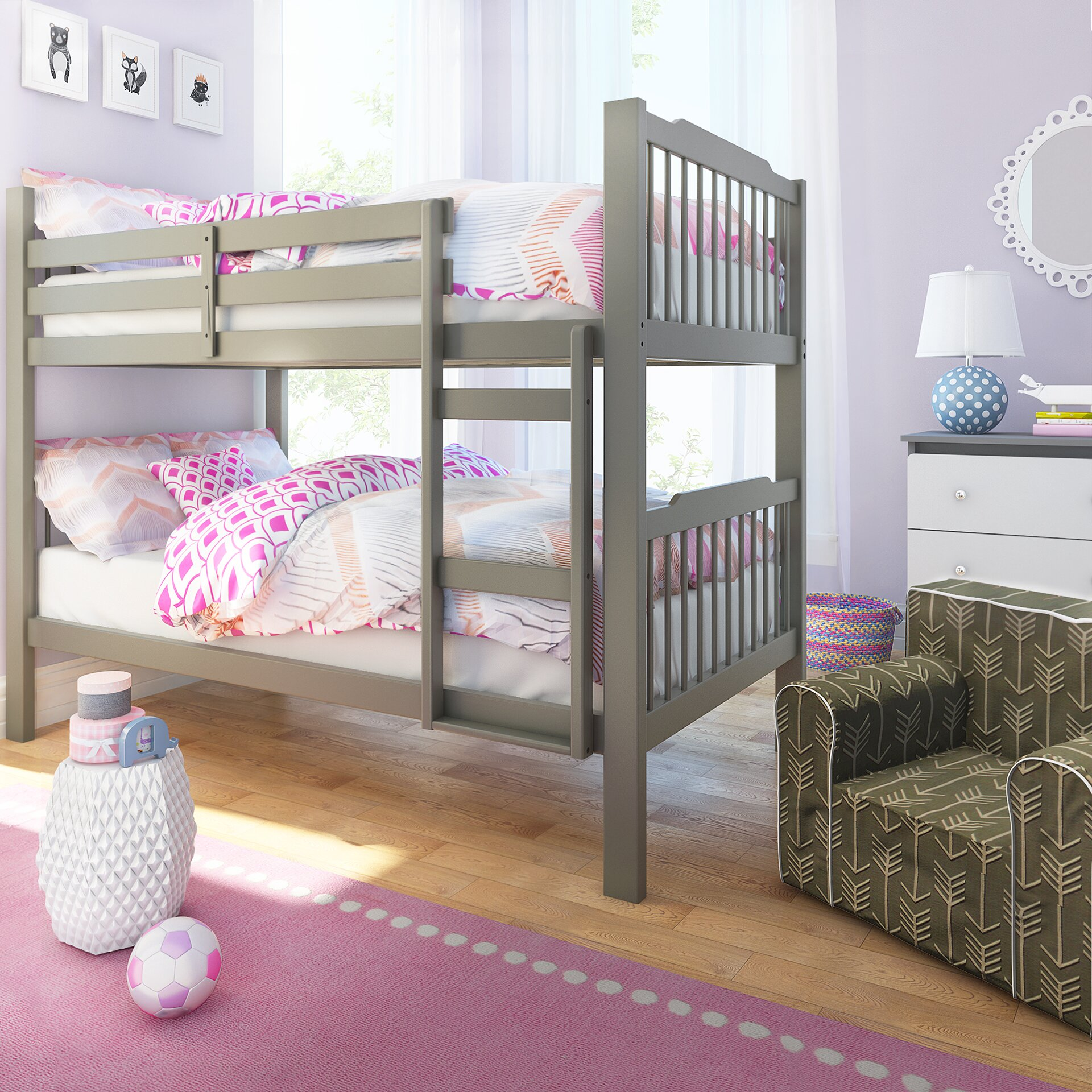 Low To The Ground Bunk Beds Emmerson Twin Over Queen Bunk