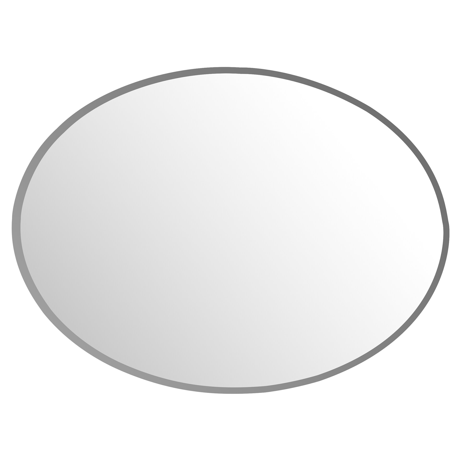 Frameless Magnifying Glasses : Frameless Oval Wall Mirror & Reviews Birch Lane