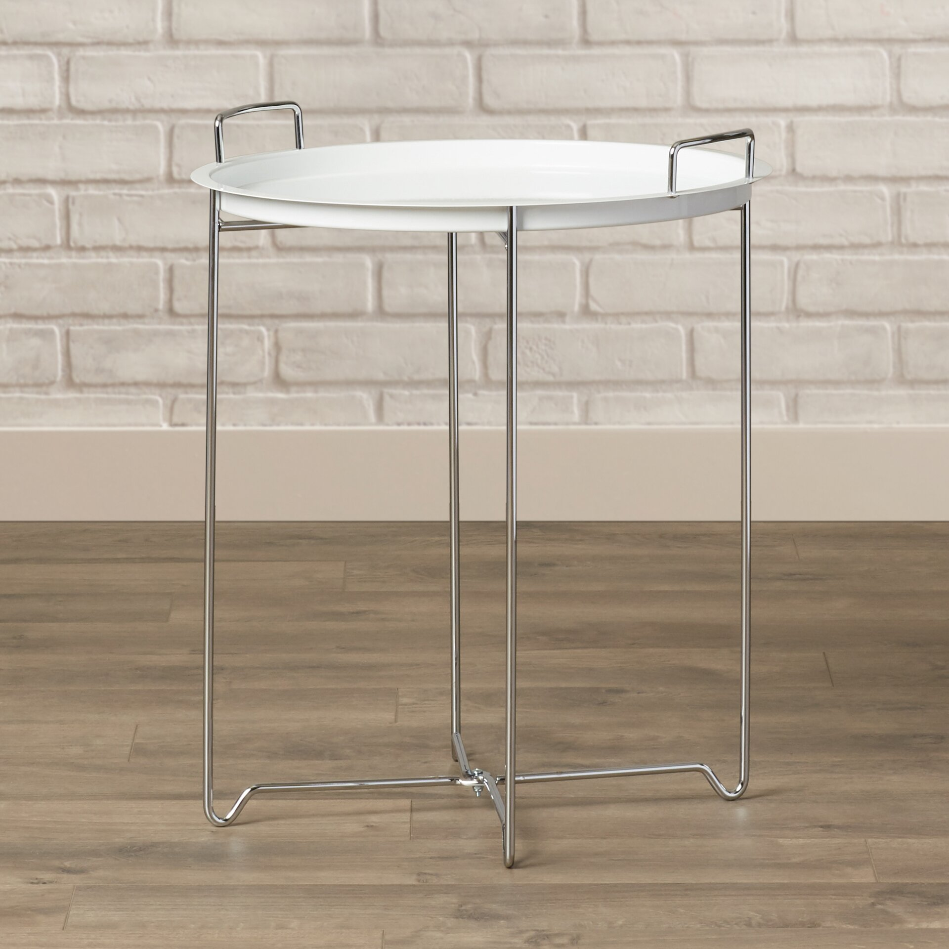 Tray Table X Base Metal Tray Table Reviews Allmodern