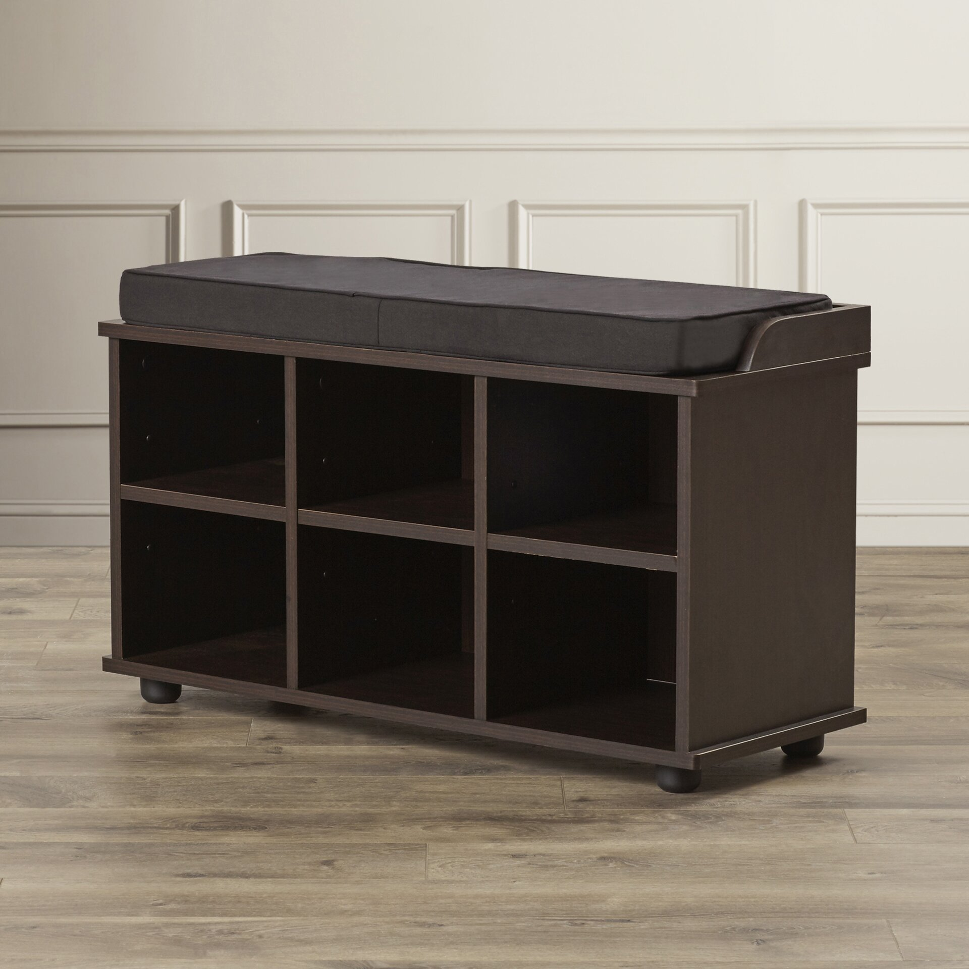 Charlton Home 6 Cubby Storage Entryway Bench Reviews