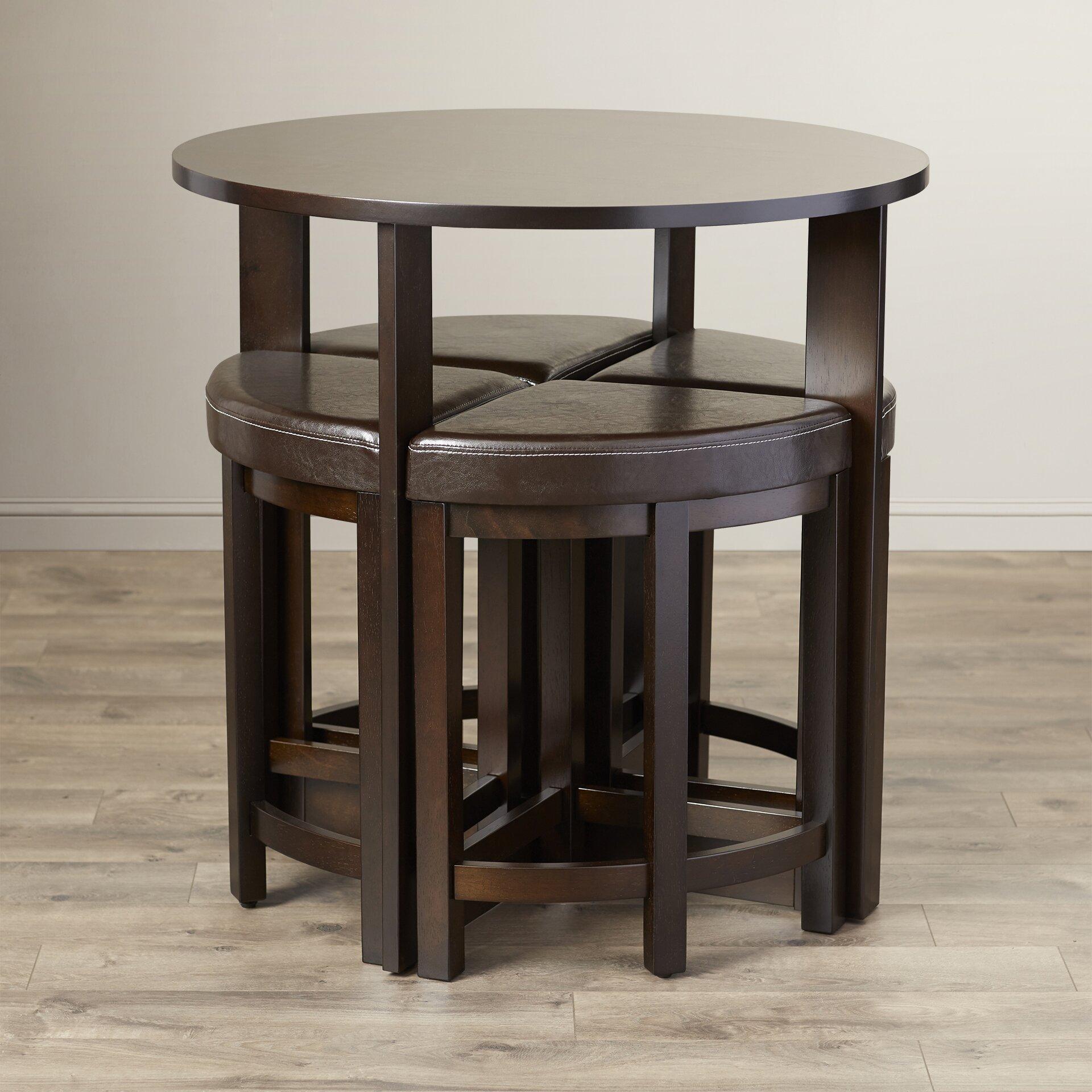 Latitude Run Earleville 5 Piece Dining Table Set Reviews