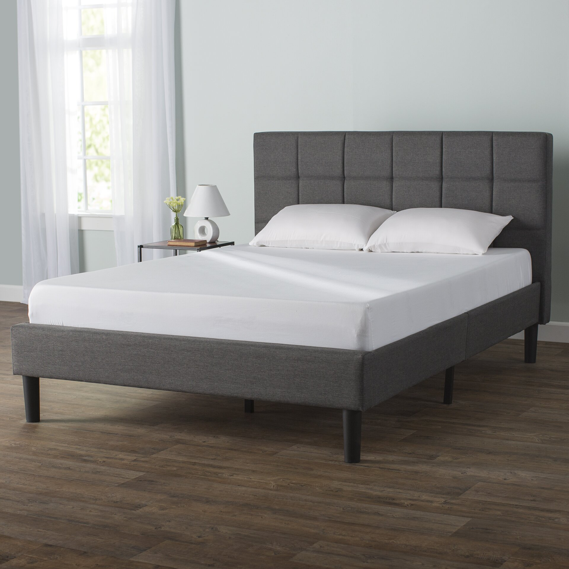 Colby upholstered platform bed reviews birch lane for Upholstered beds