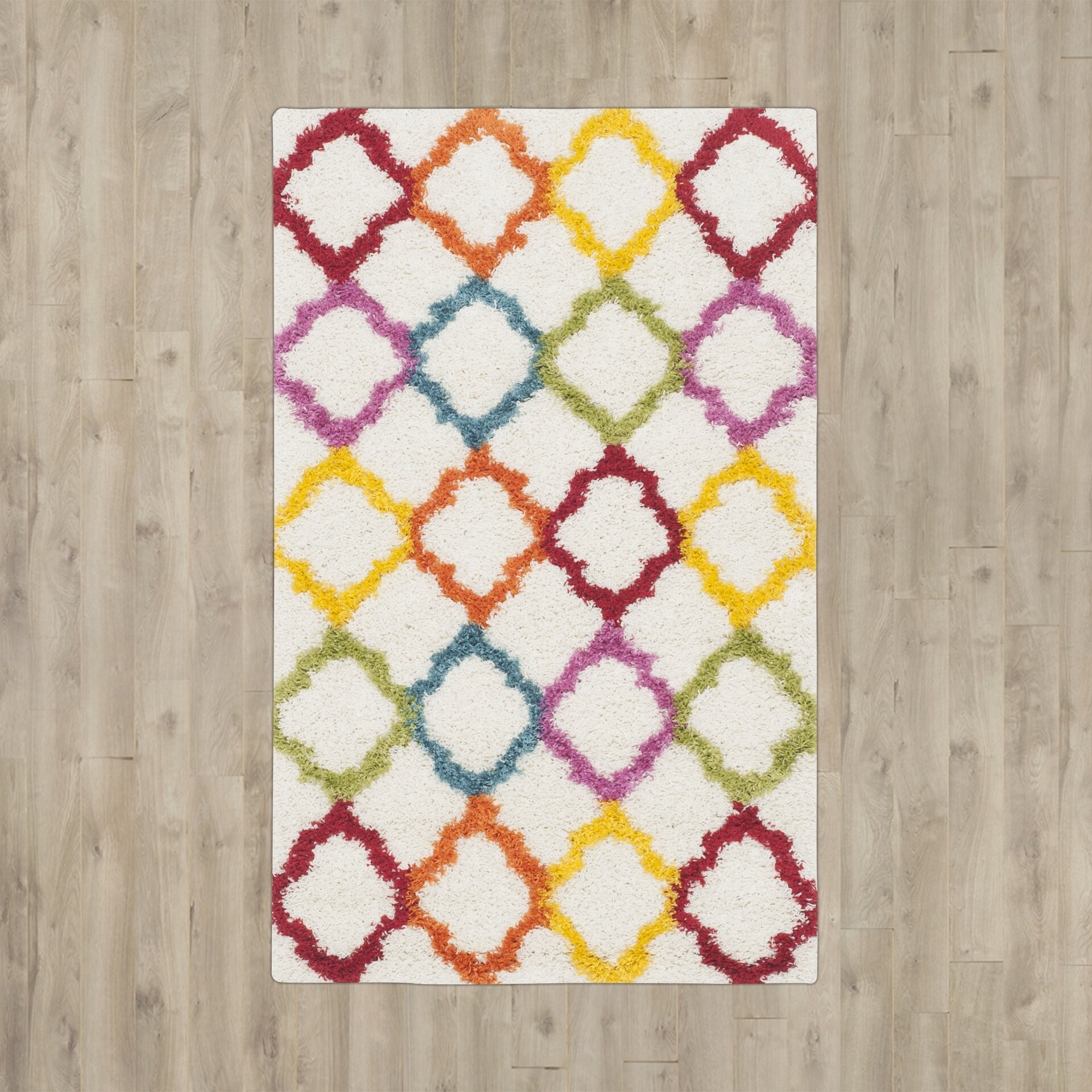 Sasha Rainbow Kids Area Rug Reviews Allmodern