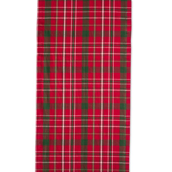 Sadie Tartan Holly Table Runner by The Holiday Aisle