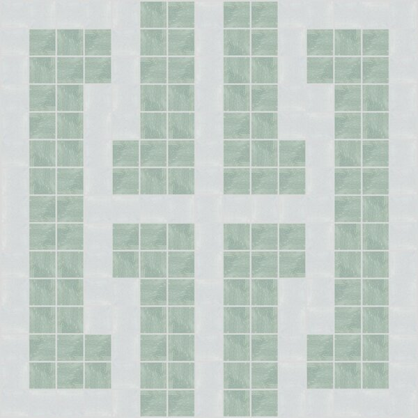 Urban Essentials Bold Chain 3/4 x 3/4 Glass Glossy Mosaic in Placid Turquoise by Mosaic Loft