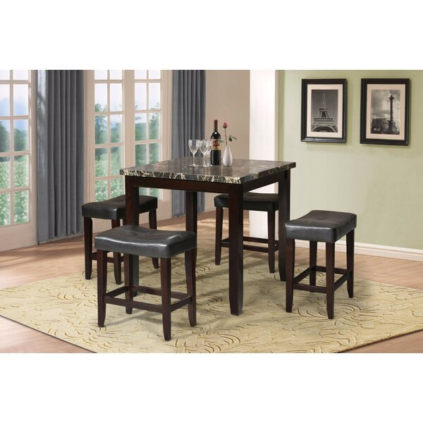 Porath 5 Piece Counter Height Dining Set by Winston Porter