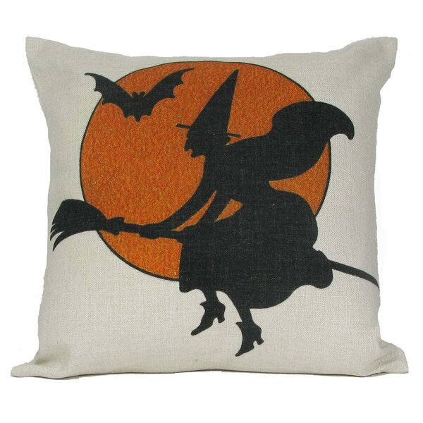 Halloween Witch Pillow Cover by Golden Hill Studio