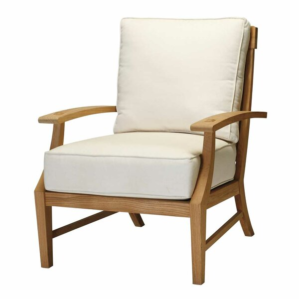 Croquet Lounge Teak Patio Chair with Cushions by Summer Classics
